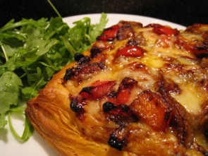 Balsamic sweet potato and red pepper tart