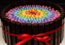 Smarties bday cake